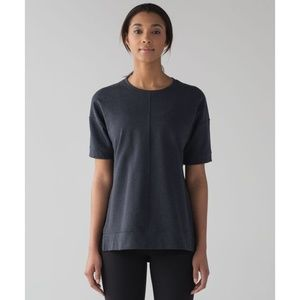LULULEMON Cut Above Tee 8 Naval Blue French Terry